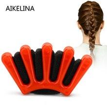 AIKELINA フランスの魅力的なスタイル 1 クリニーク女性少女 DIY スポンジヘアブレイダーひだヘアツイスト編組ツールヘアスタイリングツール