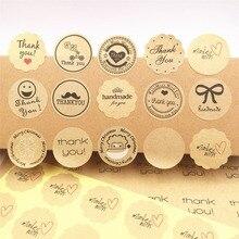 100 pz/lotto multi stile di Etichetta Adesiva 3 centimetri di Tenuta Etichetta Adesiva Per La cottura della torta/handmade del regalo/cibo /regalo di imballaggio di Tenuta Etichette