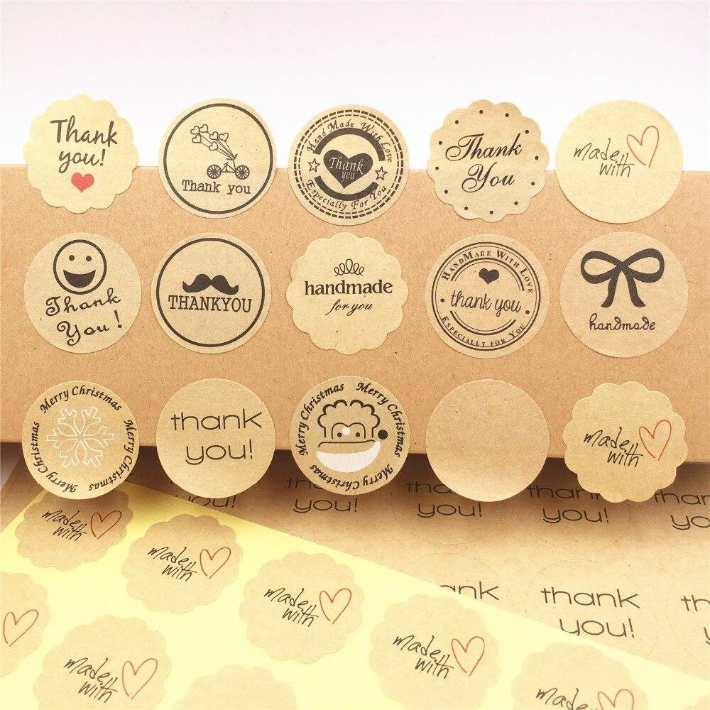 100PCS /lot Multi-style Label Sticker 3cm Sealing Label Sticker For Baking Cake /handmade Gift /food/packing Gift Sealing Labels