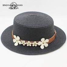 Chapéus de verão Para As Mulheres cinto Flor de Palha Panamá Chapéu de Sol  Feminino Praia 4a9ffcb6124