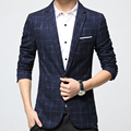 New Hot Gentleman Blazers Men Full Sleeve Plaid Casual Clothing Business Style Plus Size M-6XL Autumn Coat Men's Hot Blazers