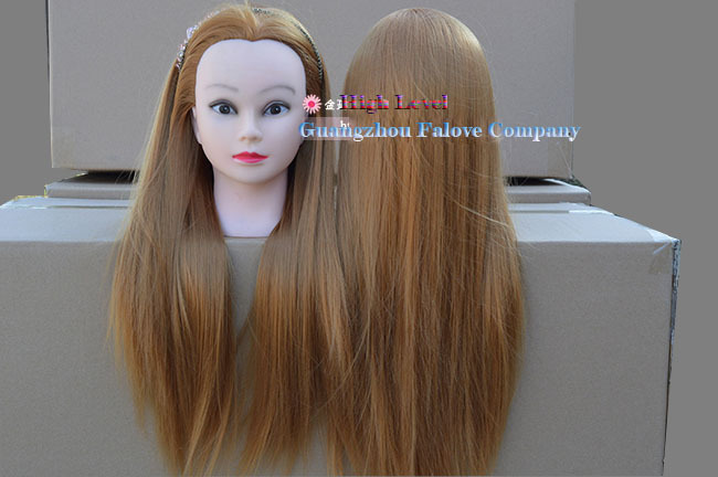 Hair Styling Mannequin Head: Free Shipping Gold Color 24inch 65cm Training Head Styling