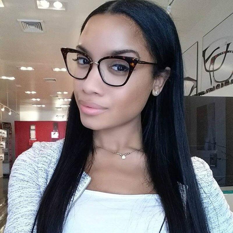 cheap designer frames c6po  2017 Cat Eye eye glasses frames For Women Brand Designer Eyeglasses M nail  Clear Lens glasses