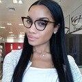 2017 Gato Olho óculos de armações de óculos de olho Para As Mulheres Óculos de Marca De Grife M prego Limpar Lens óculos de Armação Oculos de sol Feminino gafas