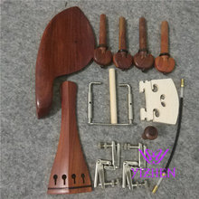 1 Sets Quality 4/4 ROSEWOOD Violin parts including Chin rest tail piece & pegs end pin