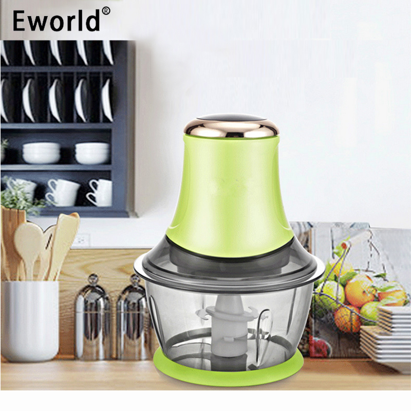 Eworld 2L Multifunc Electric Automatic Meat Grinder Household Mincer Double Layer 4 Stainless ...