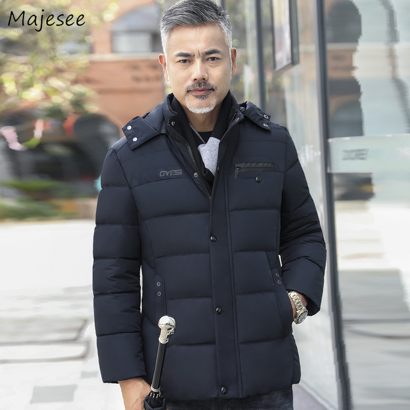 Parkas   Men 2019 Winter Thicker Plus Velvet Warm Leisure Pockets Simple Father Gift   Parka   Mens Large Size High Quality Clothing