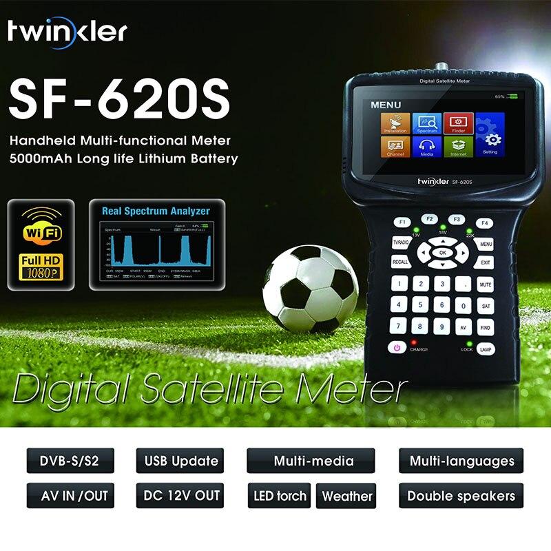 Twinker 620 s Medidor de localizador de Satélite Digital HD Para Receptor de Satélite 1080 p HD, DVBS/S2 Medidor de Satélite Multi-funcional Handhel