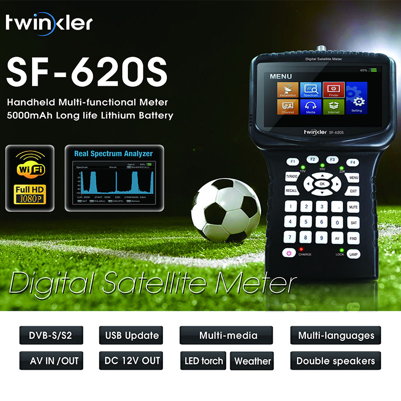 Twinker 620 s Satellite finder HD Digital Meter Per Il Ricevitore Satellitare 1080 p HD, DVBS/S2 Satellitare Multi-funzionale Handhel Metro