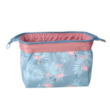 Portable Women Travel Cosmetic Bag Storage Box Printing Waterproof Zipped Makeup Wash Organizer Toiletry Storage Pouch 2018(China)