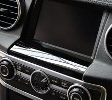 Per Land rover Discovery 4 Auto-Styling ABS Cromato GPS Schermo Sotto Pannello di Copertura Trim Adesivi Accessori