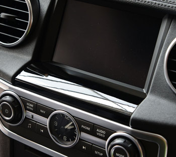 цена на For Land rover Discovery 4 Car-Styling ABS Chrome GPS Screen Below Panel Cover Trim Stickers Accessories