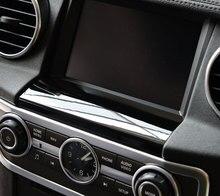 Для Land rover Discovery 4 автомобиль-Стайлинг ABS хром gps экран ниже панель Крышка отделка наклейки аксессуары