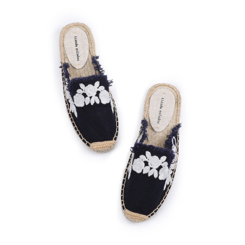 Pantufa Women Shoes Tienda Soludos Slippers Cotton Fabric Sale Promotion Hemp Rubber Summer Slides Zapatos De Mujer Floral 1