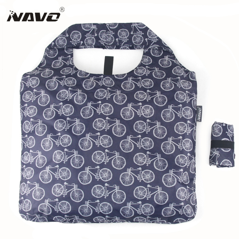 NAVO Polyester shopping bag foldable reusable grocery bags lightweight Folding shopping bag foldaway einkaufstasche borsa spesa