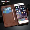 Dr. promocional caso casos de couro de luxo retro pu para iphone 6 6 s caso slot para cartão wallet capa para iphone 6 6 s com menor preço