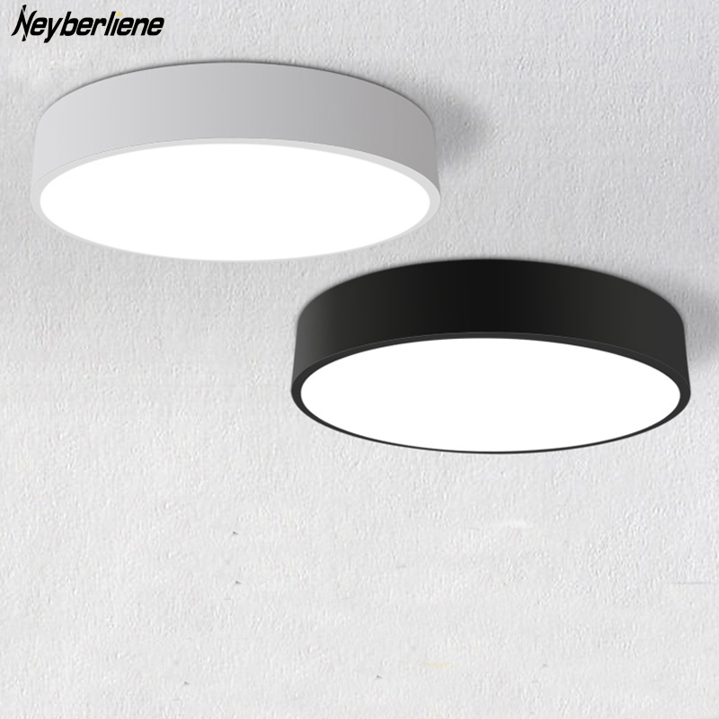 Ceiling Lights Ceiling Lamps LED Indoor Lighting Fixture Black/White Color  Round Simple Decoration Dining Room Luminarias Lustre In Ceiling Lights  From ...
