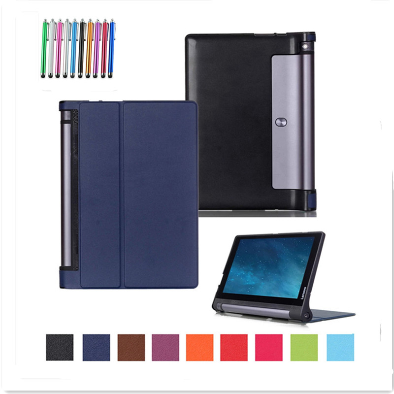 YOGA Tab 3 10.1 Case Cover Protective Shell Case Smart Cover For Lenovo Yoga Tab 3 10 X50 X50 X50L X50M X50F Funda +Stylus Pen smart cover silk print protective leather case cover for 8 inch lenovo yoga b6000 tablet pc gift screen protector pen stylus