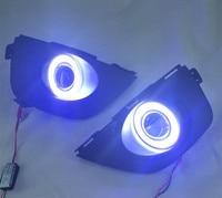 EOsuns Innovative COB Angel Eye Led Daytime Running Light DRL Fog Light Projector Lens For Renault
