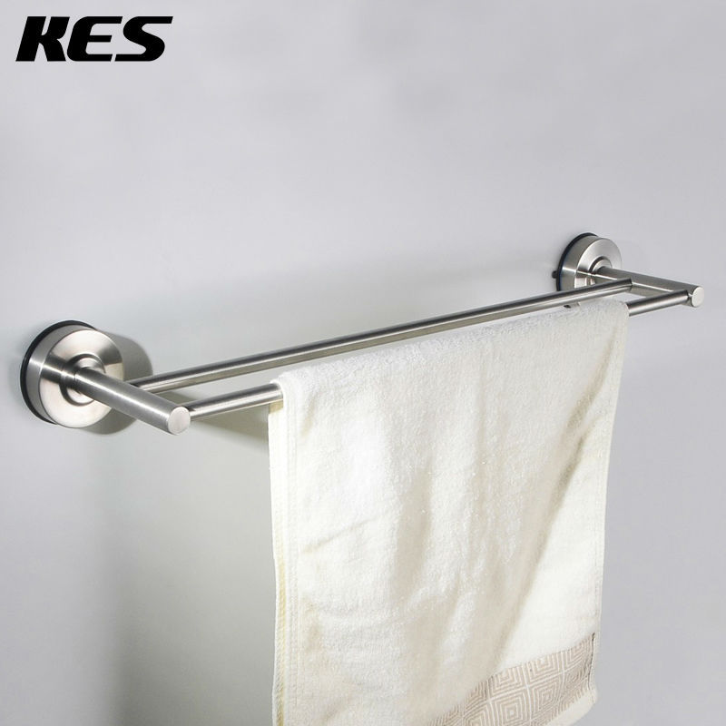 Kes A6201b Bathroom 24 Inch Lavatory Double Towel Bar Strong Suction Cup Brushed Stainless Steel In Bars From Home Improvement On Aliexpress