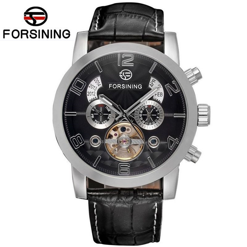 Luxury Brand New Automatic Self-Wind Day Mechanical Wrist Watch Mens Dress Watches Gift for Weding Gift Box Free Ship mce automatic watches luxury brand mens stainless steel self wind skeleton mechanical watch fashion casual wrist watches for men