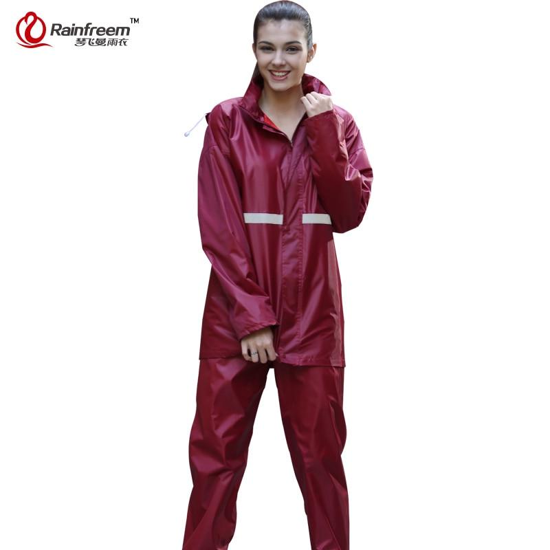 Rainfreem Impermeabile impermeabile a doppio strato Impermeabile per donna / uomo