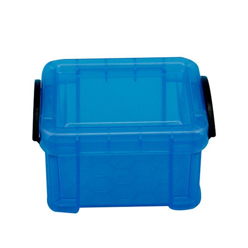 Home Candy Color Storage Box With Lid Plastic Storage Bins Mini Desktop  Storage Basket For Toys Clip Locking Debris Organizer  In Storage Boxes U0026  Bins From ...
