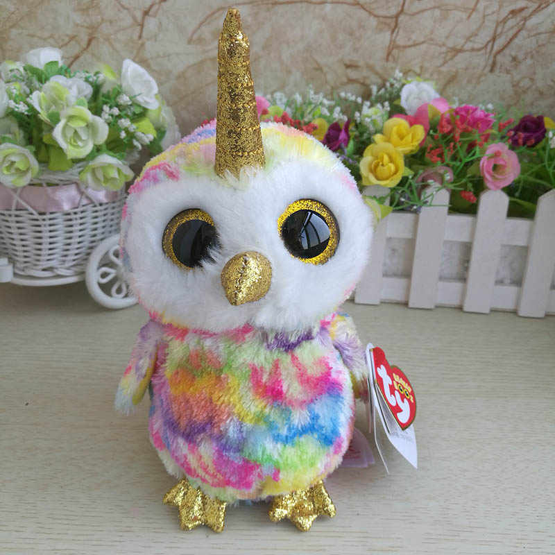 ... 2018 Ty beanie boos collection plush toy owl Unicorn Enchanted Buttons  Snowman Heather Cat Nori Narwhal ... 49ba2b914022