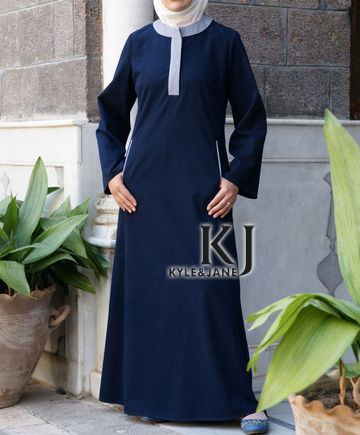 Latest vestidos Muslim abaya for women, sandwash cotton islamic clothing for women