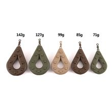 Lead Weight Fishing Sinker Hollow Pear Shaped Sea Fishing Leads Swivel Weights Tackle Accessories 71g/85g/99g/127g/142g outkit 10pcs lot copper lead sinker weights 10g 7g 5g 3 5g 1 8g sharped bullet copper fishing accessories fishing tackle