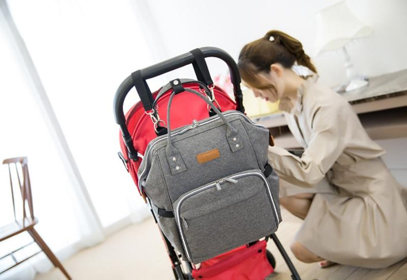 HTB1e1C8gL2H8KJjy0Fcq6yDlFXan 23 Colors Fashion Mummy Maternity Nappy Bag Large Capacity Baby Diaper Bag Travel Backpack Designer Nursing Bag for Baby Care