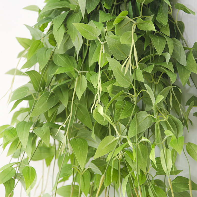 95cm artificial vine leaves hanging clematis plants for Artificial leaves for decoration