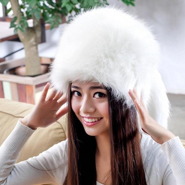 BH03 White Wedding Hat For Brides Fashion Russian Style Women Winter Fur Bridal Hats Bridal Accessories Evening Party Female Cap