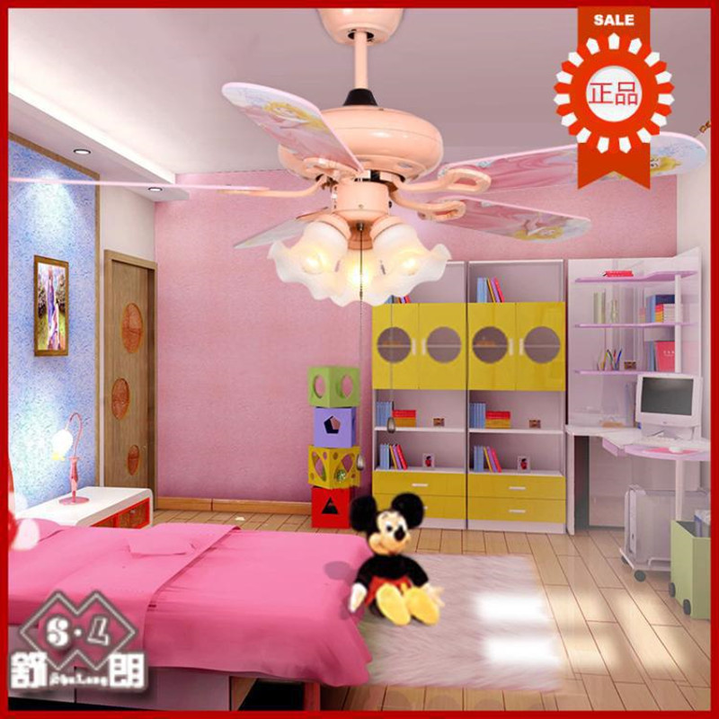 Modern princess ceiling fan light, living room bedroom, Ikea Ceiling ...