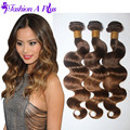 #4/30 Color Malaysian Virgin Hair Ombre Hair Extensions Malaysian Body Wave Human Hair Weave 3 Bundles Rosa Ombre Malaysian Hair