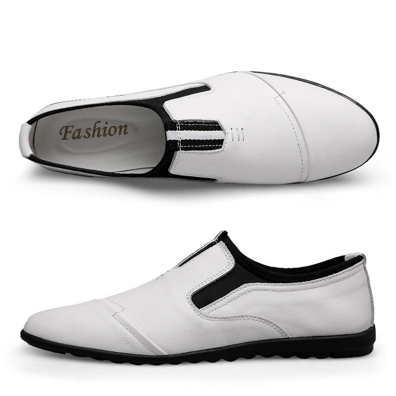 Sapatos Homens Respirável Primavera Jovens Britânicos Dos Tendência Couro Moda Preto Casuais branco Coreano Da De drzPwrqx