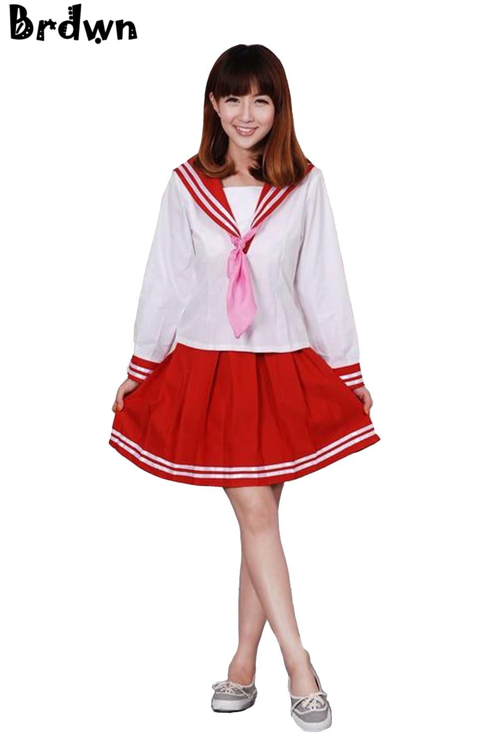 Dress up diary baju pelaut - Lucky Star Izumi Konata Wanita Cosplay Gaun Seragam Sekolah Pelaut Setelan Rok China Mainland