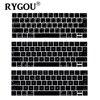 EU US Layout Arabic French Danish German English Greek Alphabet Silicone Keyboard Cover For New Macbook