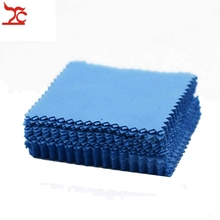 100Pcs  Silver Jewelry Cleaning Polishing Cloth  Wipe Tissue Flannelette Silver Cleaning Fabric 8x8cm