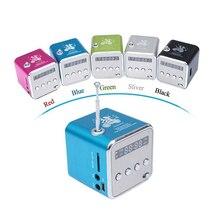 Portátil Mini Altavoz Reproductor de Música MP3 Apoyo Soundbox USB Micro SD Radio FM TF AUX con Pantalla LCD para el ORDENADOR Portátil regalo