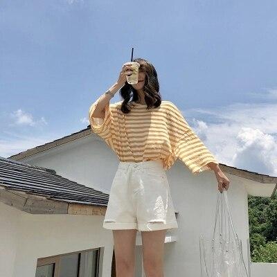 2018 fashions tragen T-Shirts körper reparatur kleine frische dünne und regelmäßige bodenbildung sommer hemd