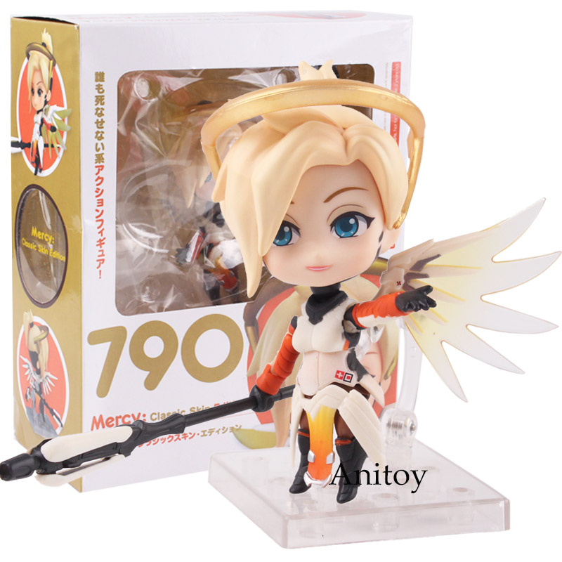 Nendoroid 790 Mercy Classic Skin Edition PVC Mercy Figure Action Figure Collectible Model Toy Doll nendoroid card captor sakura li syaoran 763 kinomoto sakura 400 pvc action figure collectible model toy doll