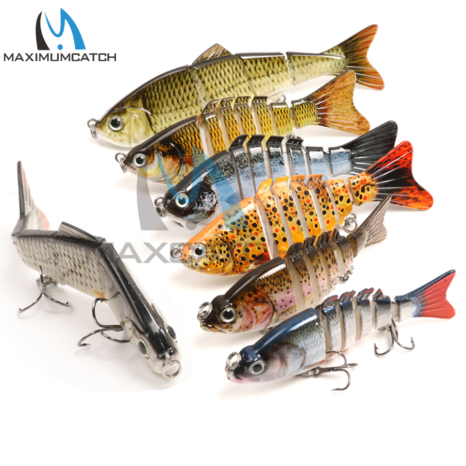 Maximumcatch Bass Fishing Lure 6/7 Segment Multi Jointed Bait Fishing Wobbler Hard Lure Swimbait