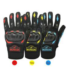 Guantes para motocicleta, para carreras y Motocross, para deportes de ciclismo, en amarillo, rojo y azul