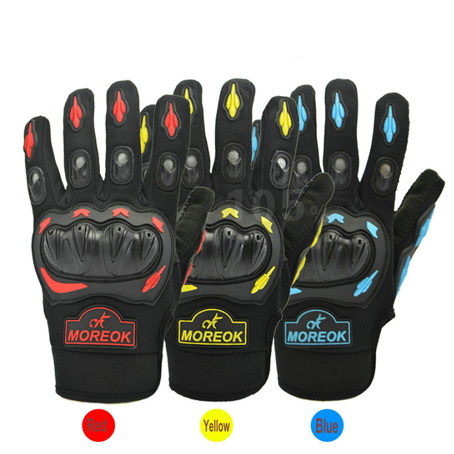 Motorcycle Gloves Moto Racing Glove Motocross Motor Riding Cycling Sports Glove Yellow Red Blue Colour Motorbike Glove