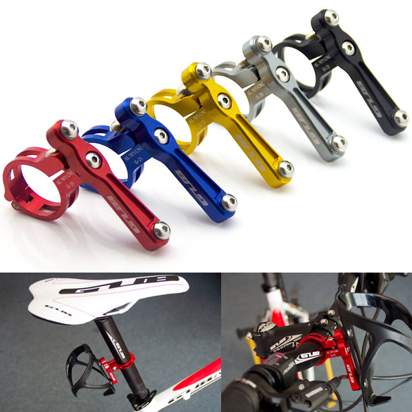 1pc Road bicycle Water Bottle Cage Mount Holder, Anodised Alloy MTB Bike <font><b>Handlebar</b></font> Rack Bracket Seat Post 5 Colors High Quality