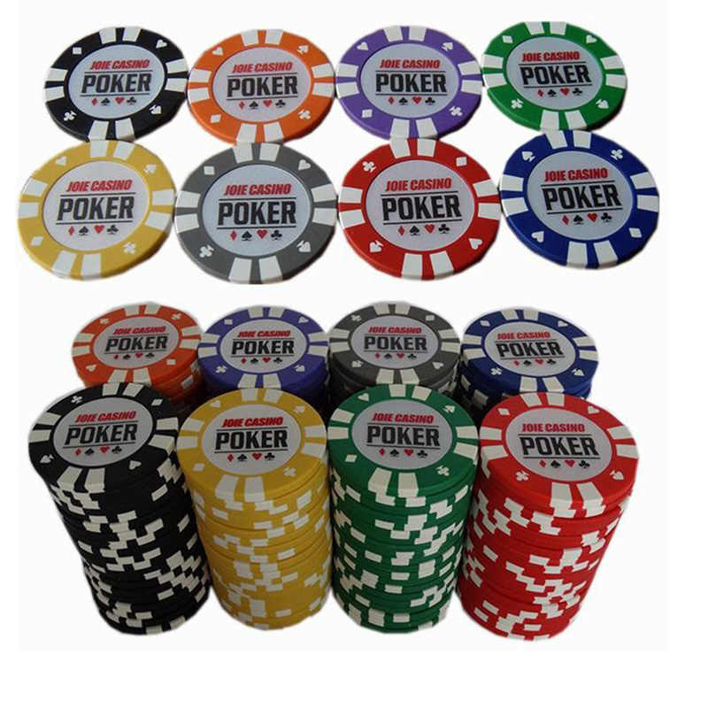 20 Pcs Lot No Value Poker Chips 11 Colors 14g Clay Iron 40 40mm