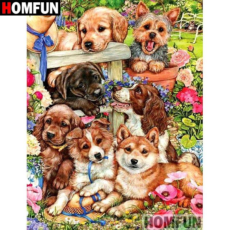 Cute Pet Dog Animal DIY 5D Diamond Painting Full drill Embroidery Art //800