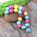 Free Shipping Fashion Beaded Kids Jewelry Chunky Bubblegum Beads Easter Necklaces Design For Gift