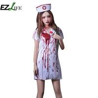 Halloween Adult Costume Halloween Horror Bloody Nurse Dress Belt Blood Nurse Doctor Set ZH01454
